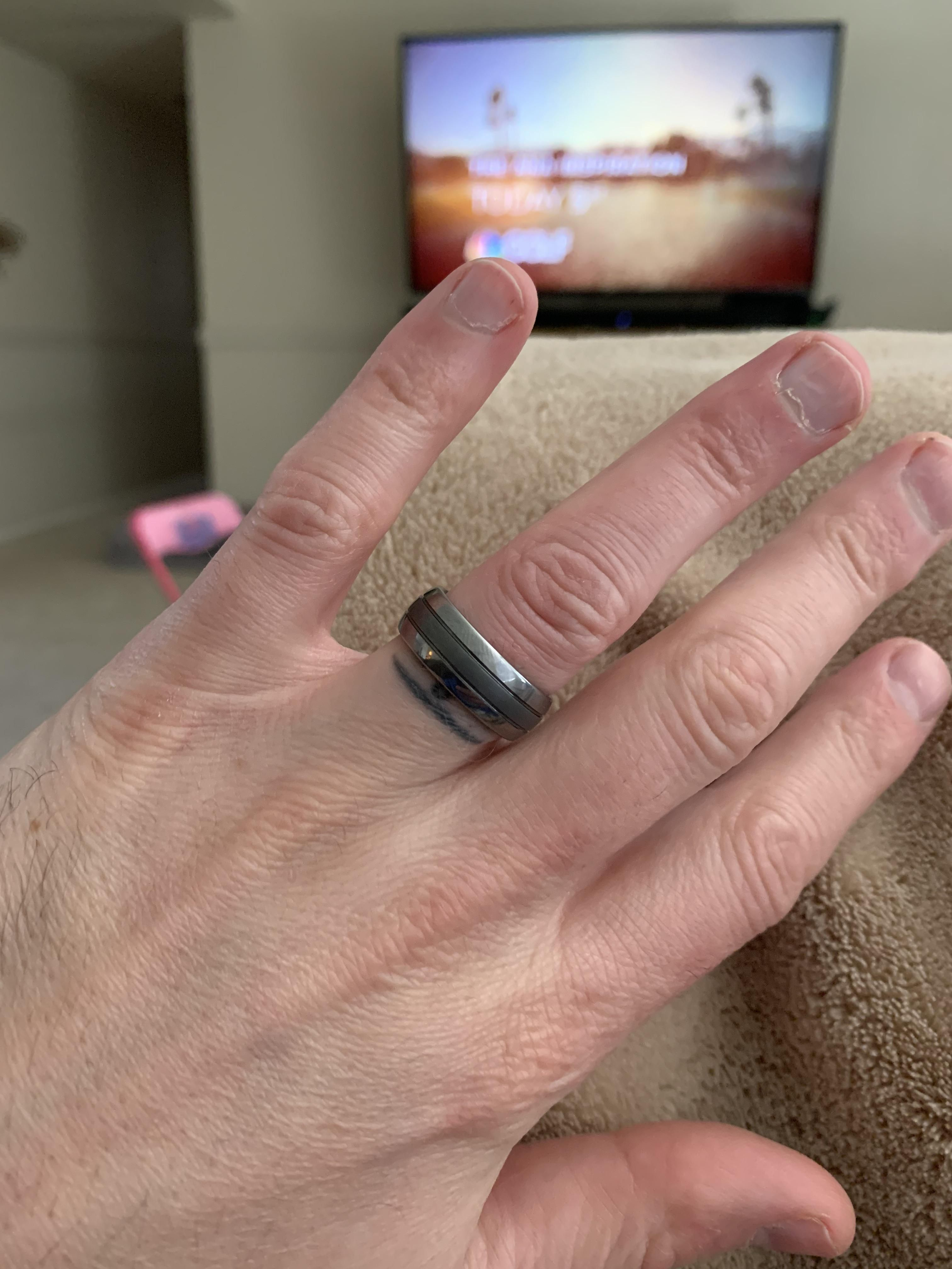 So about 6 years ago I lost my wedding ring. I ended up getting a tattoo rather than replace it. We have moved twice since then and live in a different state. My wife just found it in old purse.