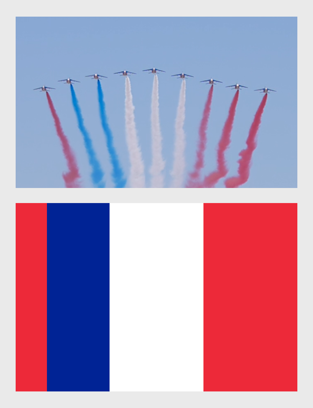 The Flag of France according to the French Air Force