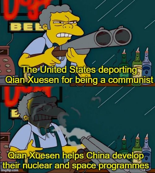 It appears Qian has used the United States' spells against them