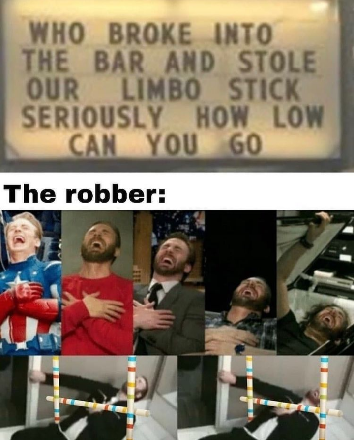 And I thought robbers could sink no lower