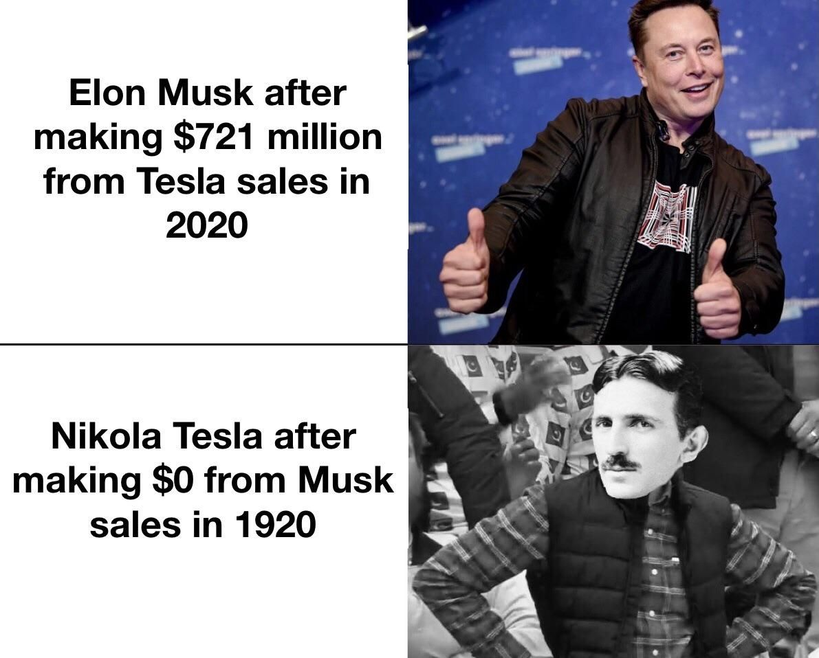 Whelp, guess I'll just die poor with my pigeon - Tesla