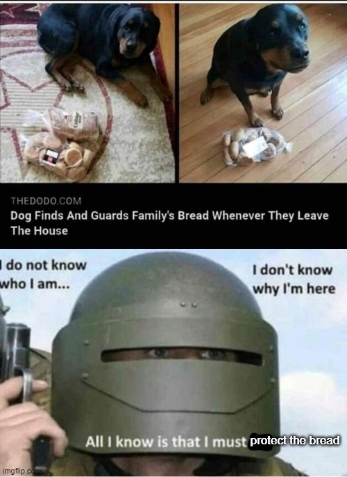 Breed to protect bread