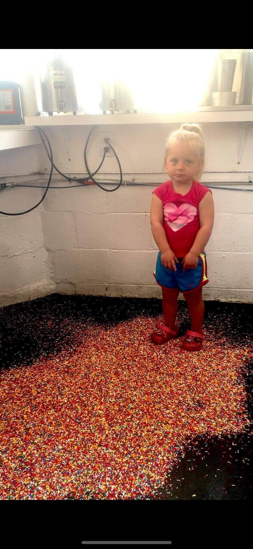 That face as this is the second time she had dumped the sprinkles at the local icecream shop...