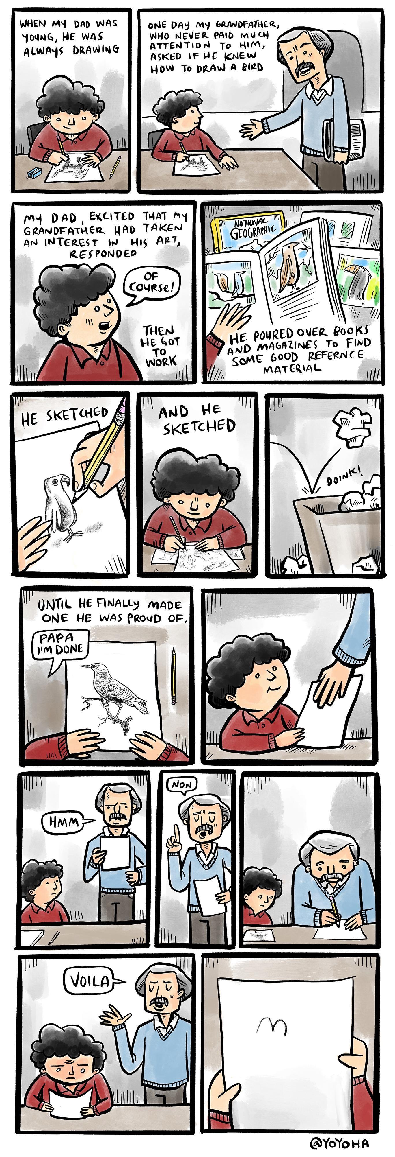 how to draw a bird: a true story