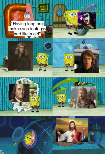 Bruh, men having long hair is nothing new