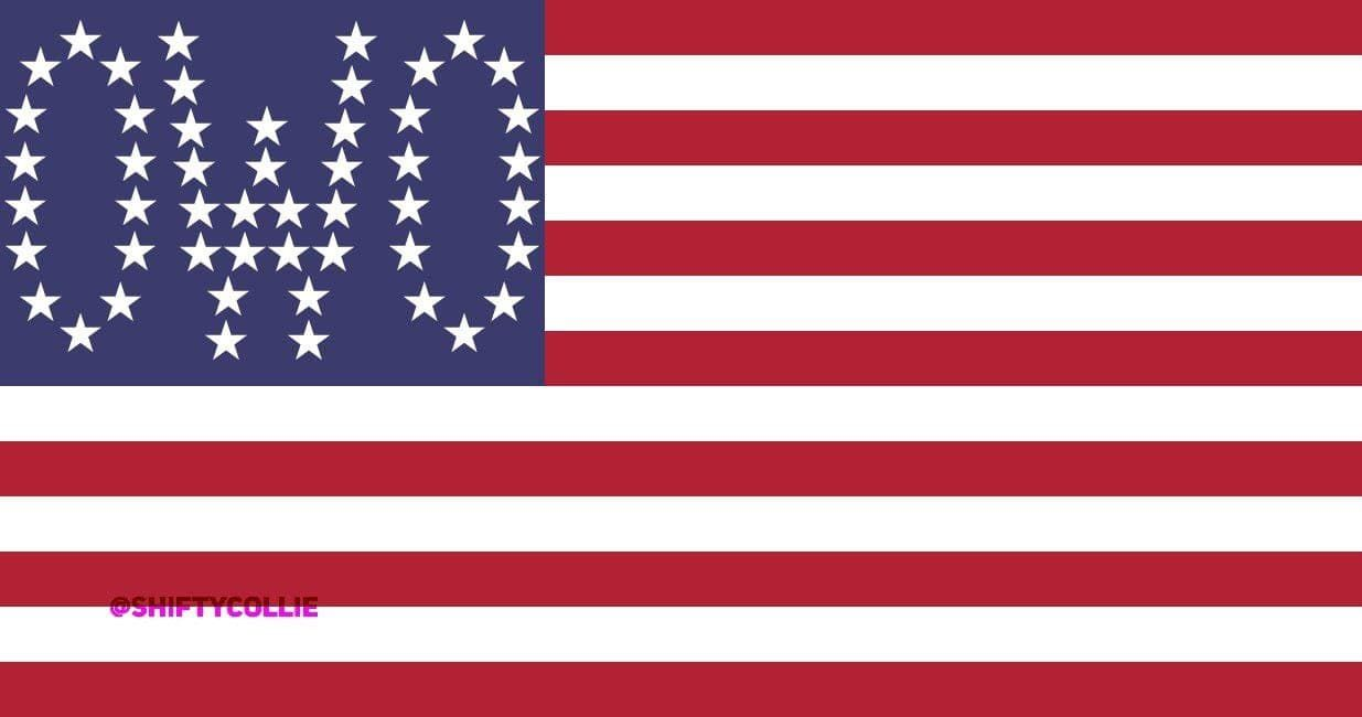 This is a completely legal depiction of the US flag according to US Flag Code