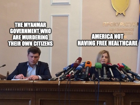 Just tryna bring awareness to the whole shit show unfolding in Myanmar right now