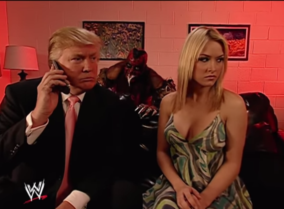Donald Trump and Melania Trump moments before getting attacked by an illegal immigrant, 2007
