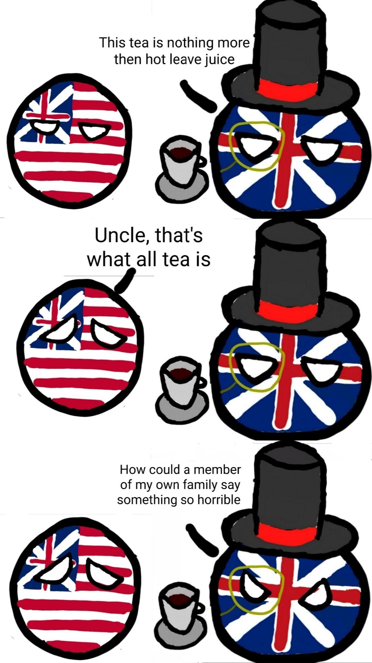 Relation of Great Britain and the 13 colonies