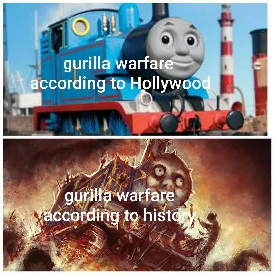 Hollywood gets any kind of war wrong most of the time but they make guerilla warfare seen like a cleaner affair then it had been historically.