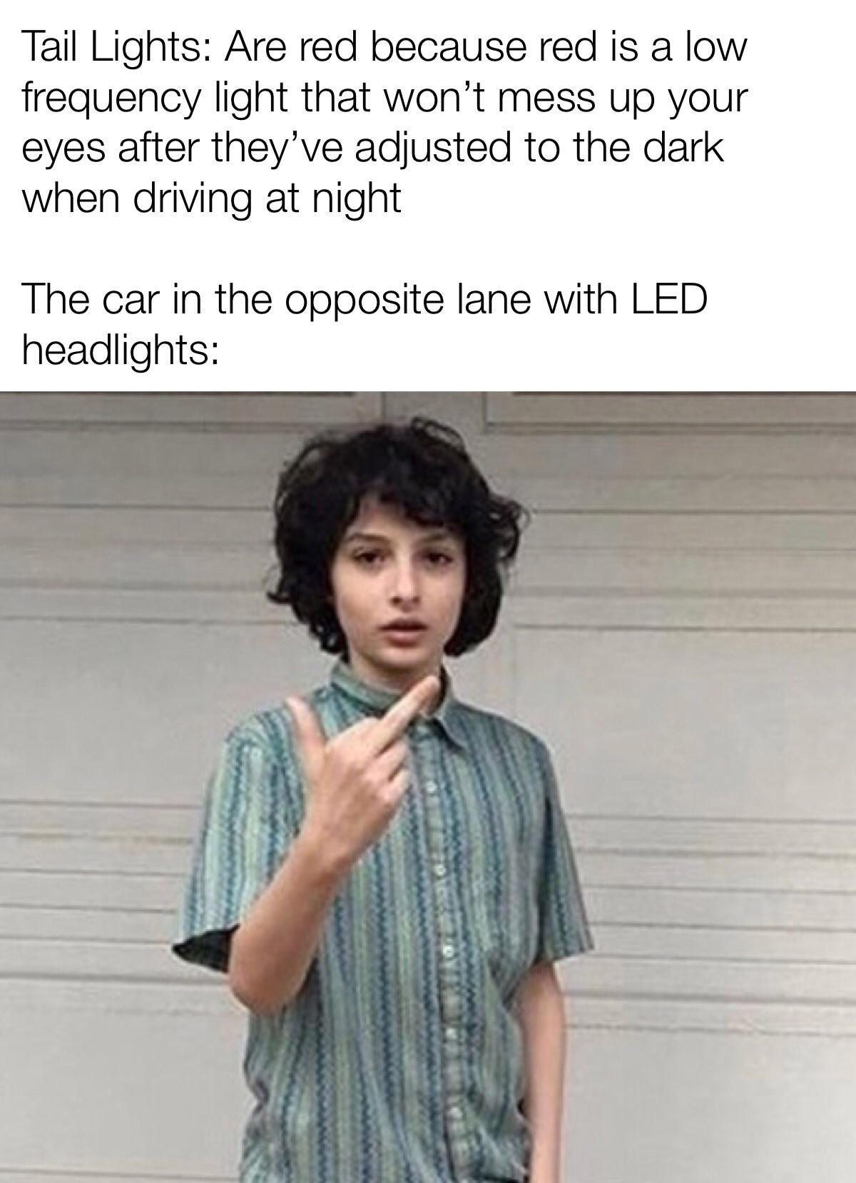 I'm blind now