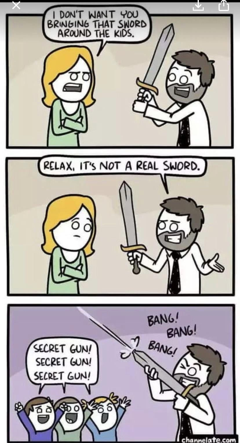Now I want a sword gun