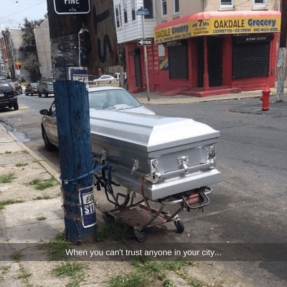 Even death some cannot escape crime