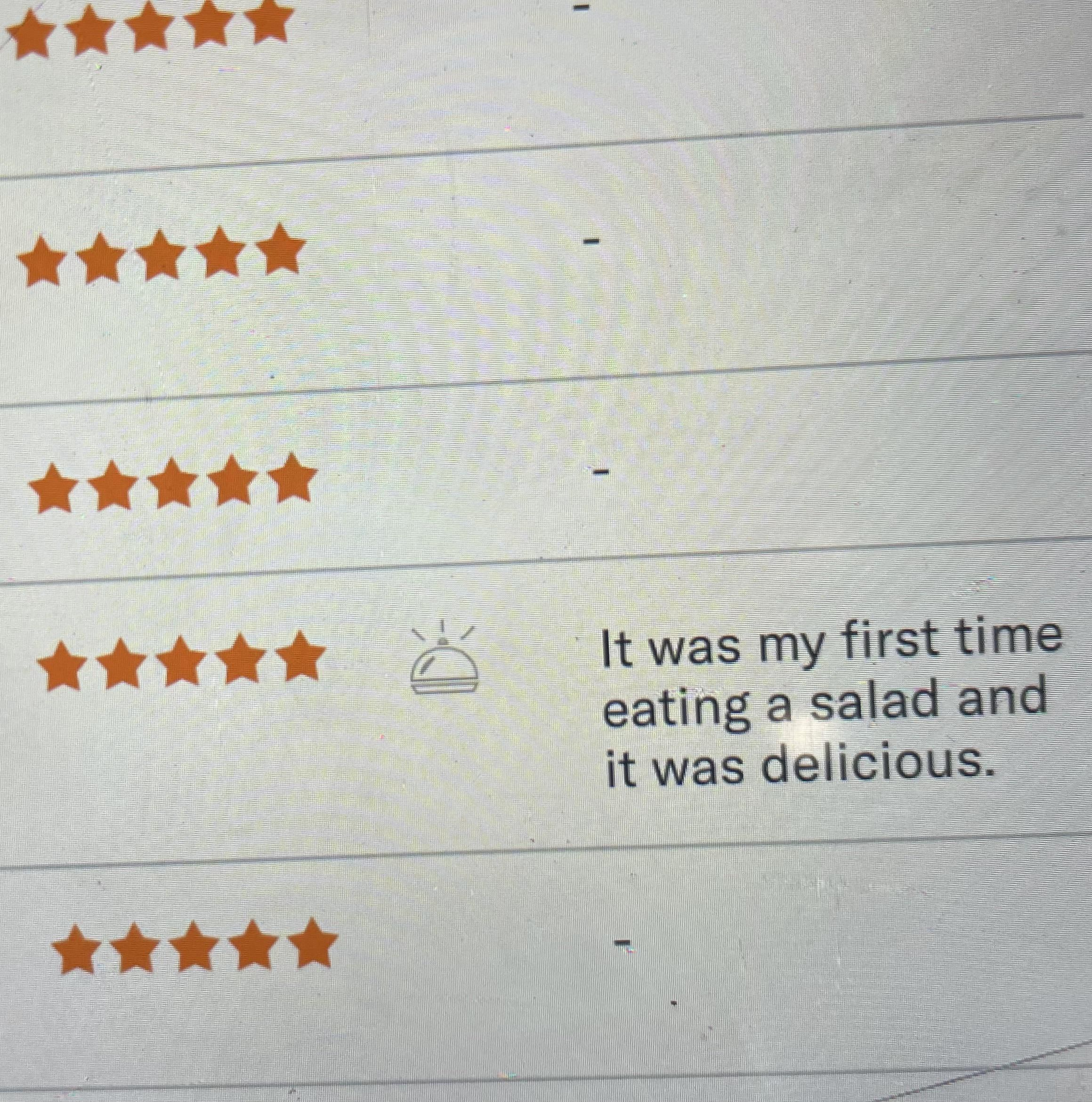 A review left at my restaurant.