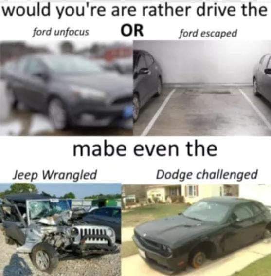 Why yes I do know the automobile