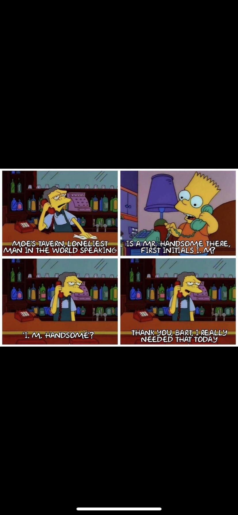Bart can be nice too! Or maybe he just wants a beer...