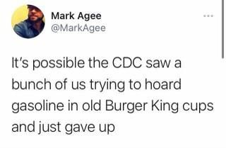 It's possible the CDC just gave up...
