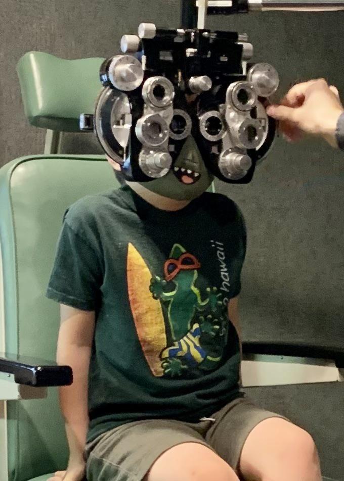 Eye exam during a pandemic.