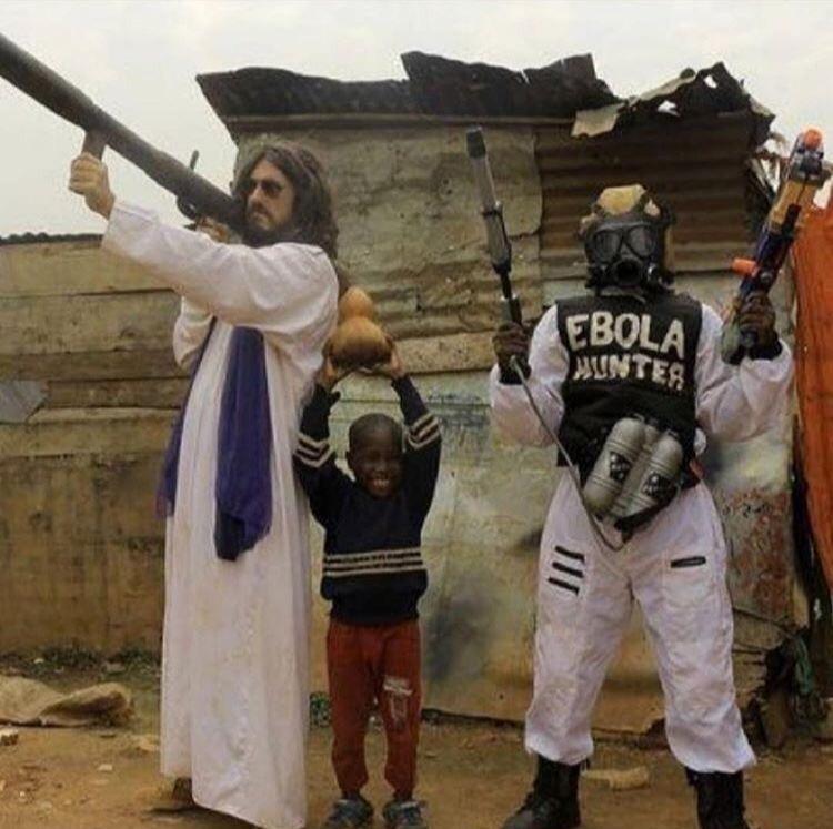 Jesus Christ declares war on Ebola, 2014
