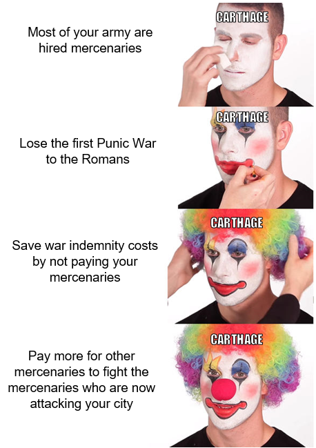 History Lesson #1 - Always Pay Your Mercenaries
