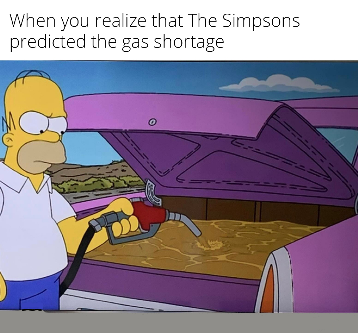 Homer hoarded gas before it was cool