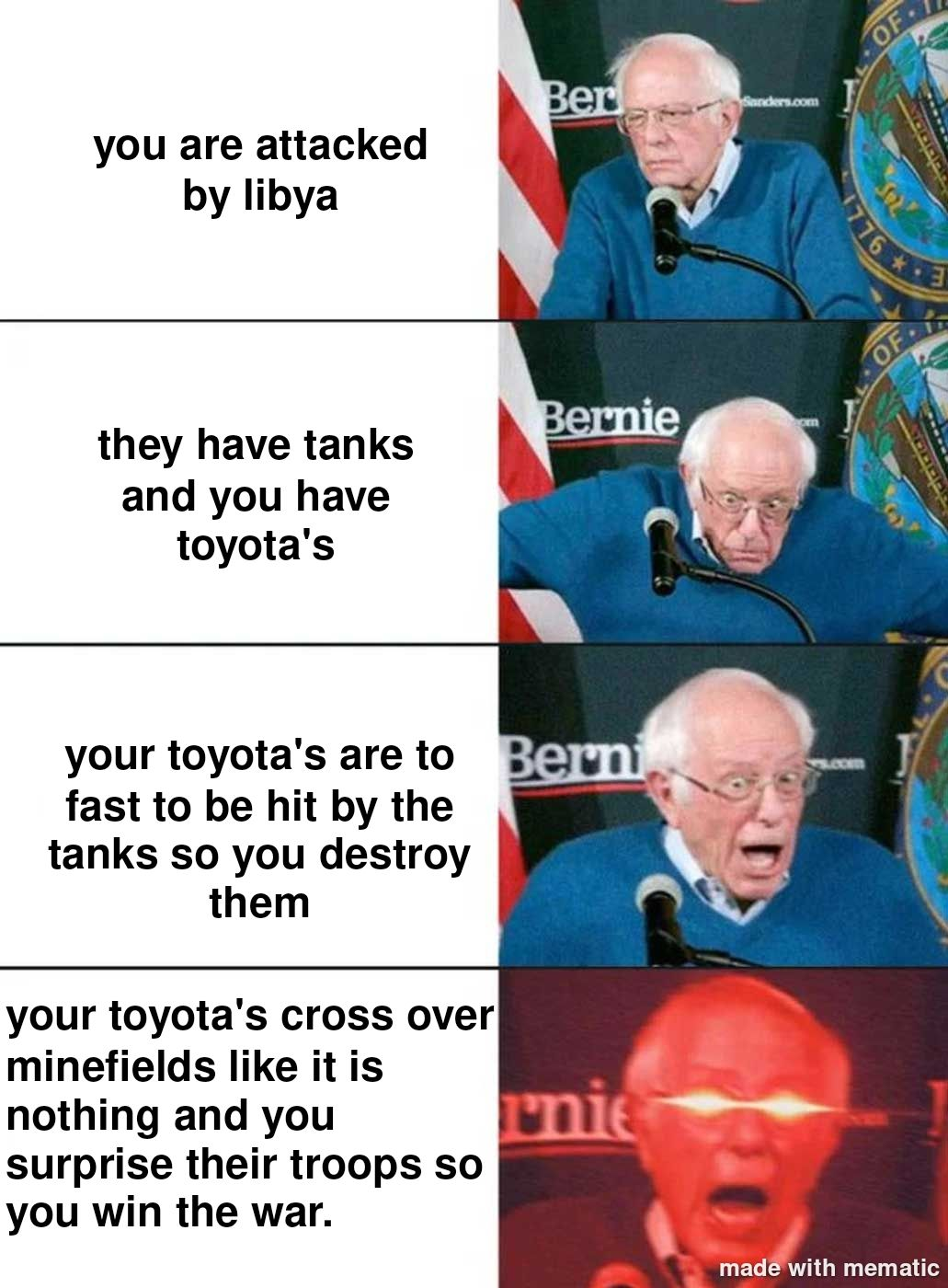 Ah yes the toyota wars