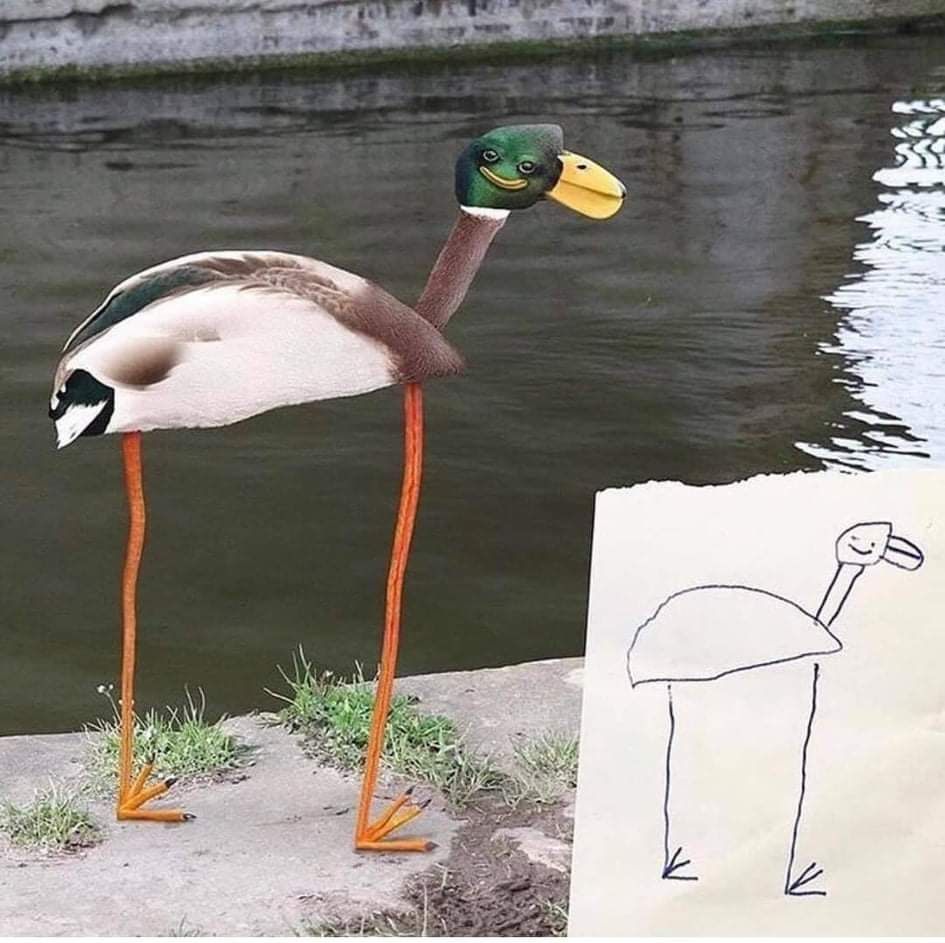 This is the best duck painting I have ever seen!