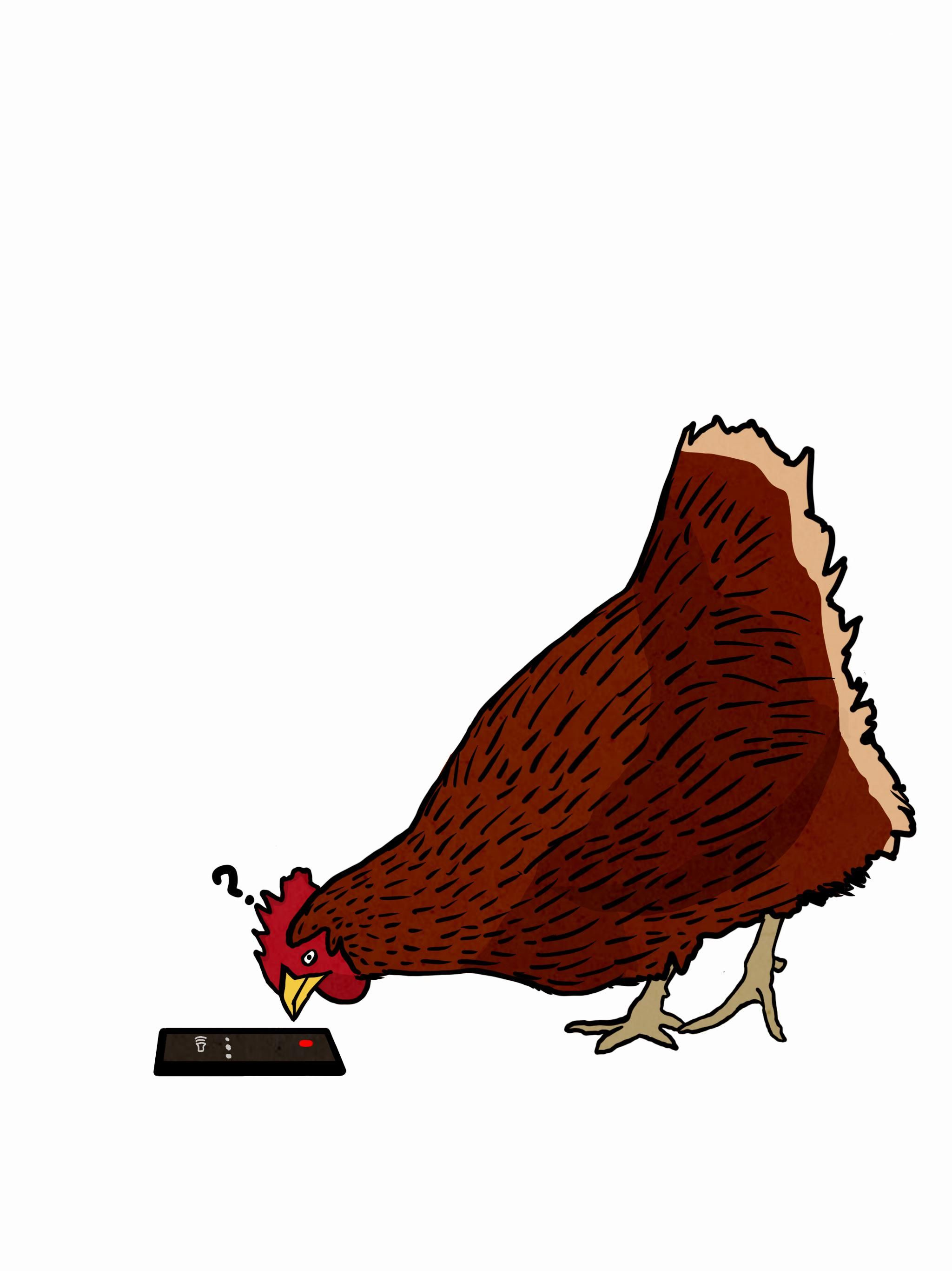 I work at a call center. Sometimes I like to draw what my callers might look like; today I answered a call to nothing but the sound of a bunch of chickens clucking. So uh yeah here that is I guess