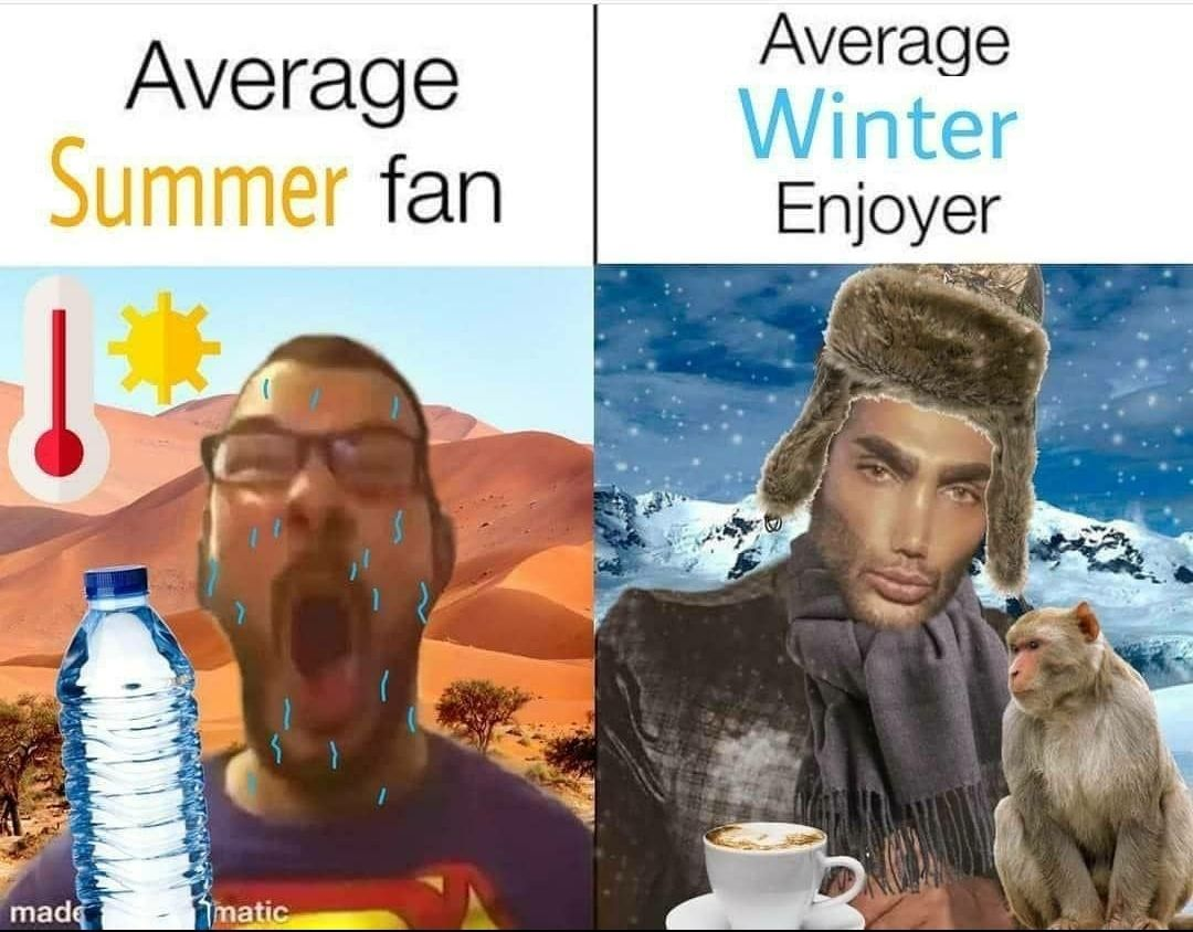 I am an average winter enjoyer