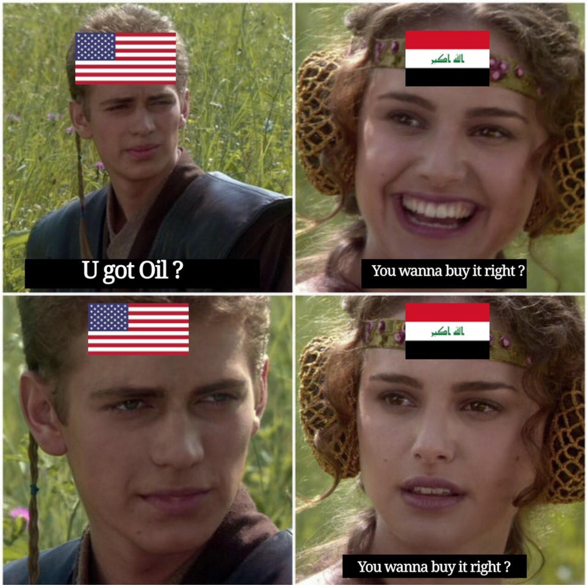 They just want to exchange their great democracy with our oil peacefully