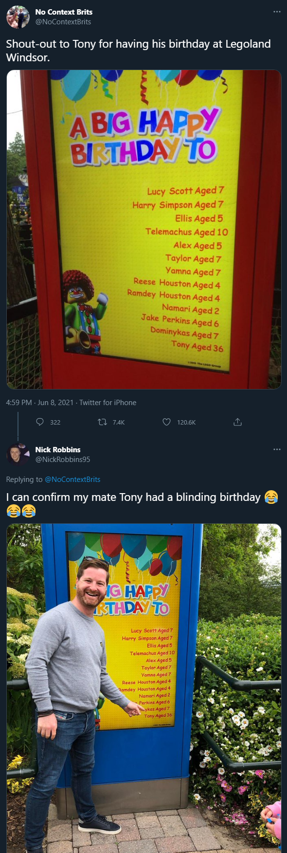 Thanks for the Birthday messages yesterday btw