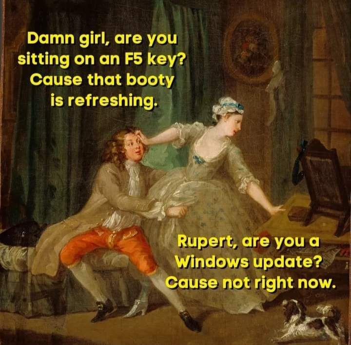 Damn it Rupert... lol