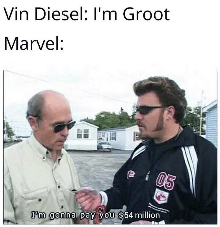 Marvel making actors rich.