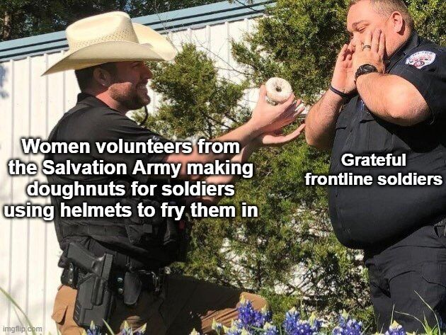Deep-fried treats make the trenches a far better place!