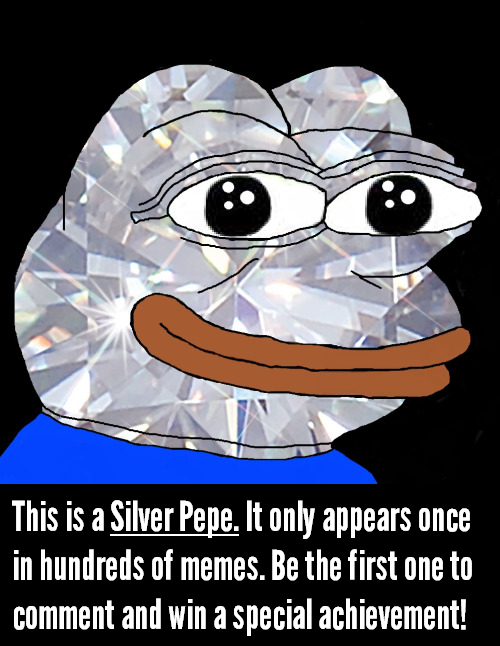 A rare Silver Pepe has appeared!