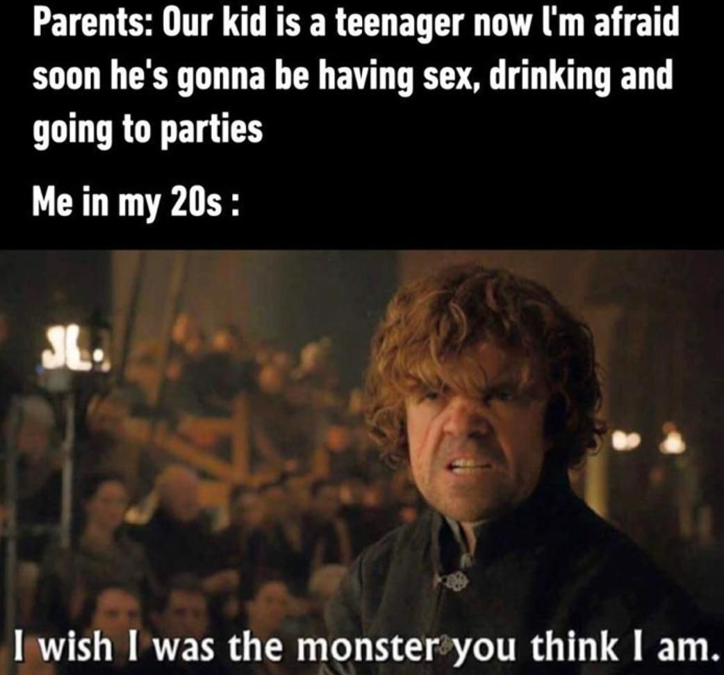 A teenager monster