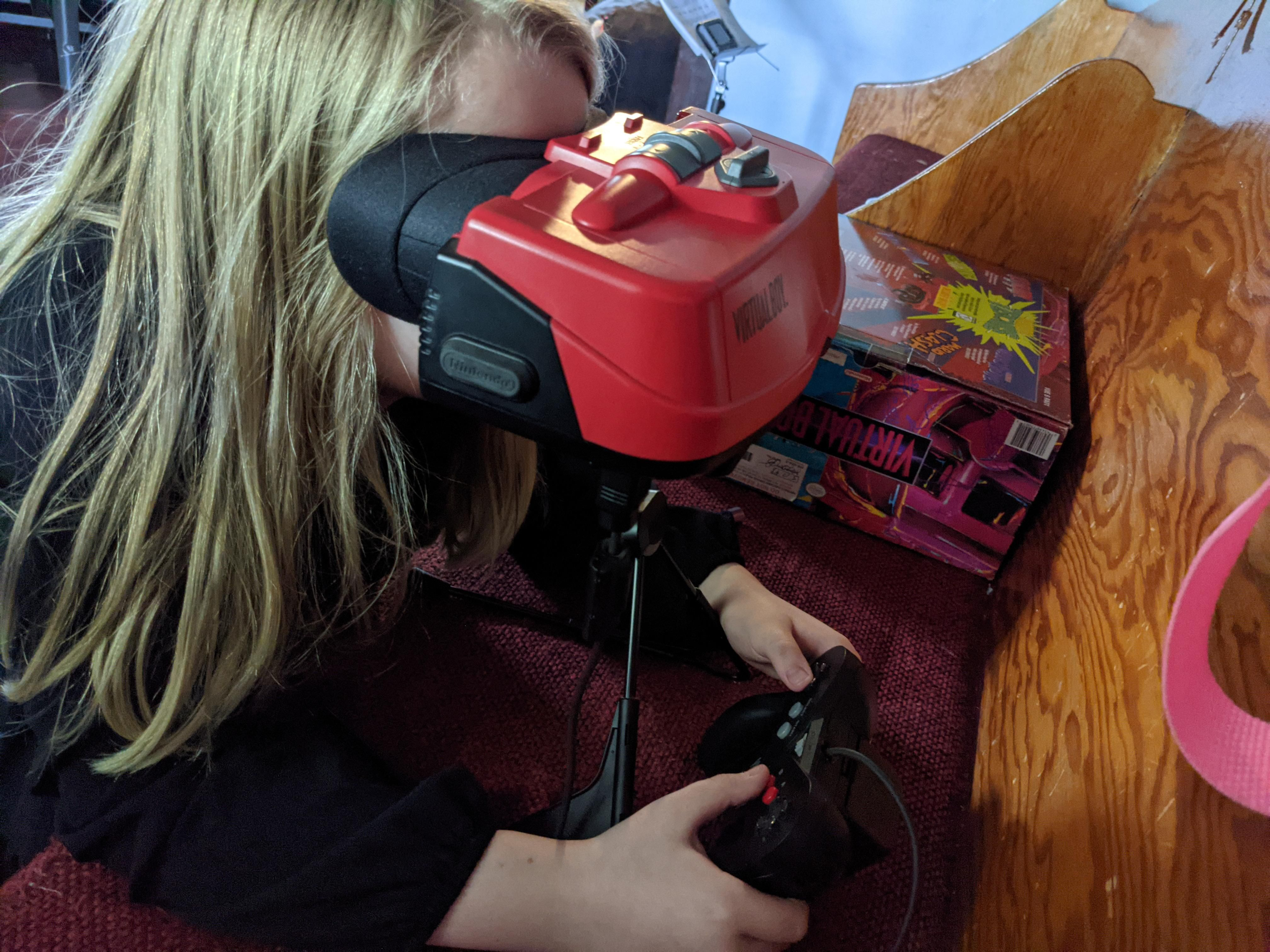 My kids been bugging the crap out of me for a VR rig. Shes 10. I gave her this 95 Virtual boy and told her we had VR at home.