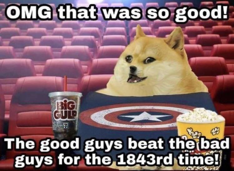 Marvel fans (pukes)
