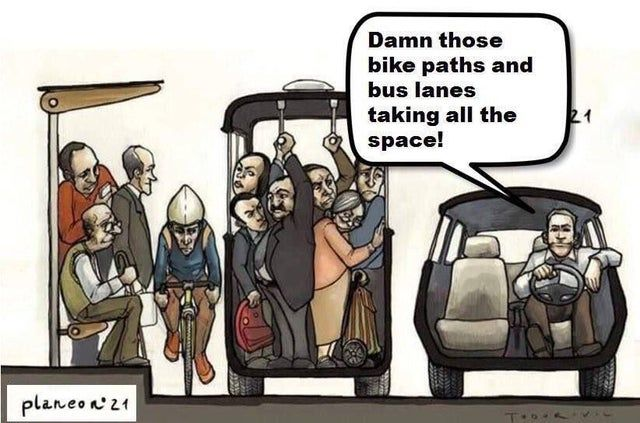 Car drivers are the most entitled people on the road.