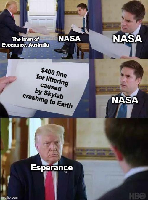 Littering?! NASA can be so trashy at times