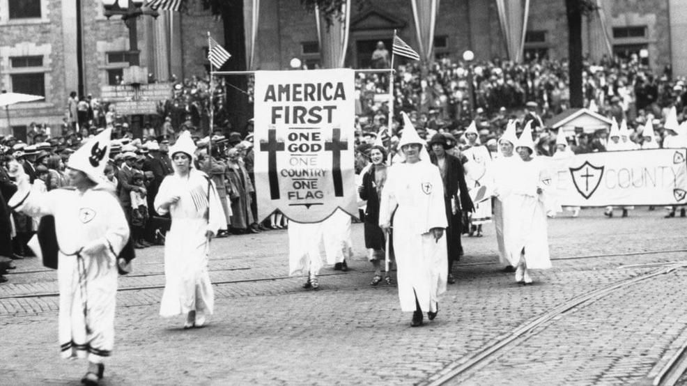 """Candidate Donald Trump holds his first """"America First"""" rally, 2015"""
