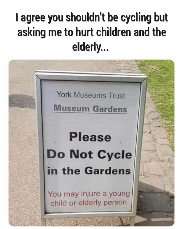 Better not bring your bike