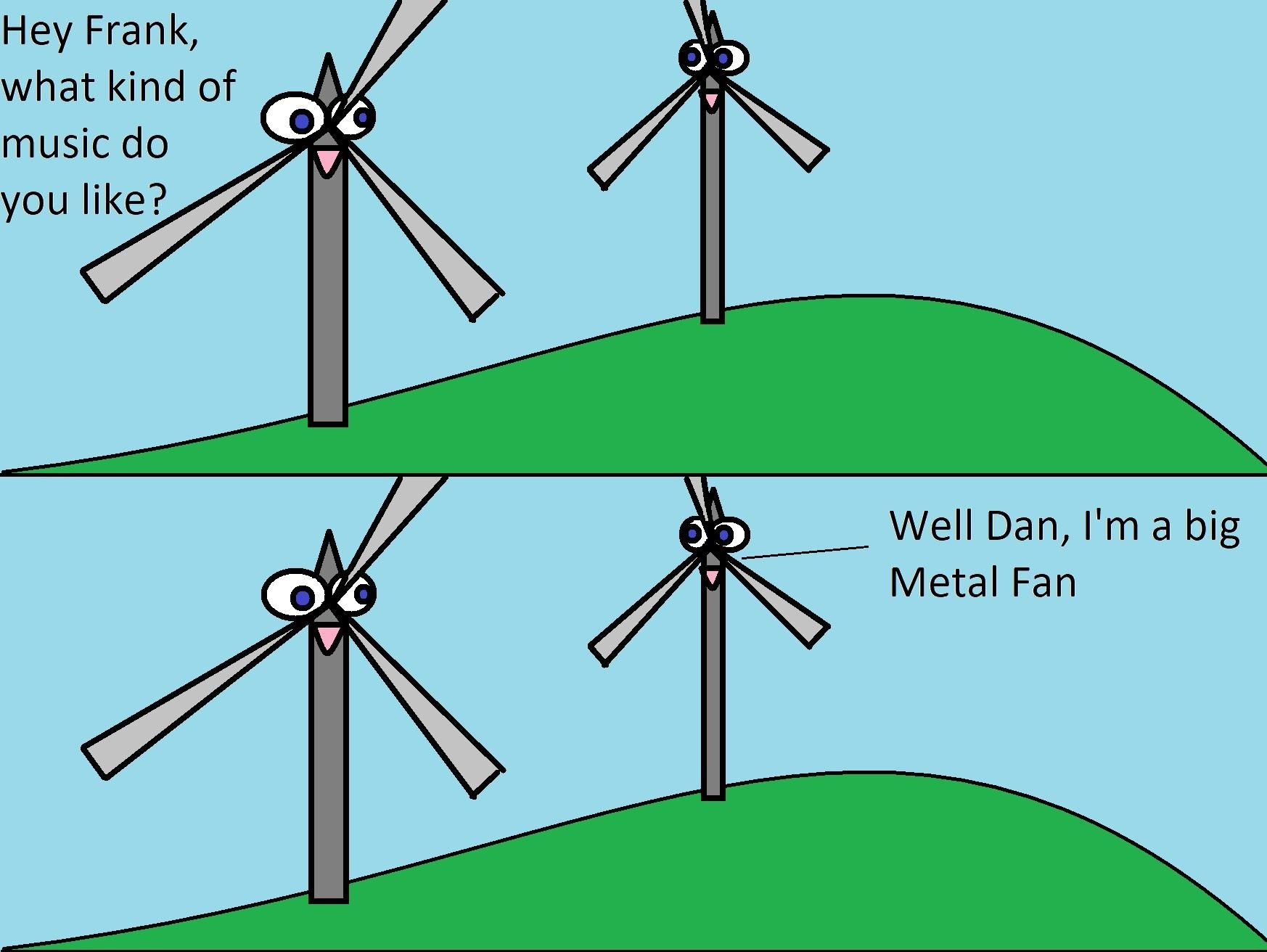 I poorly drew some big fans on paint