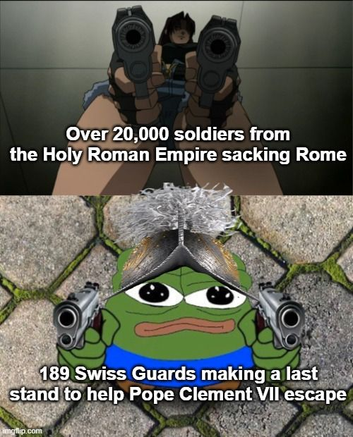 Rule number 1; never look at the Pope the wrong way