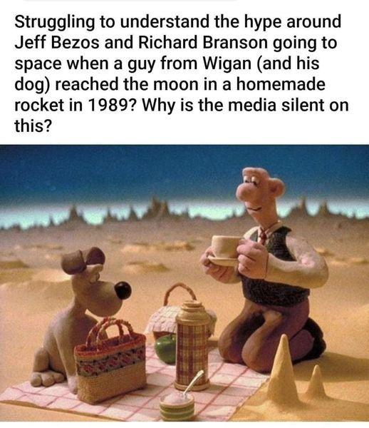 A rare Wallace & Gromit meme