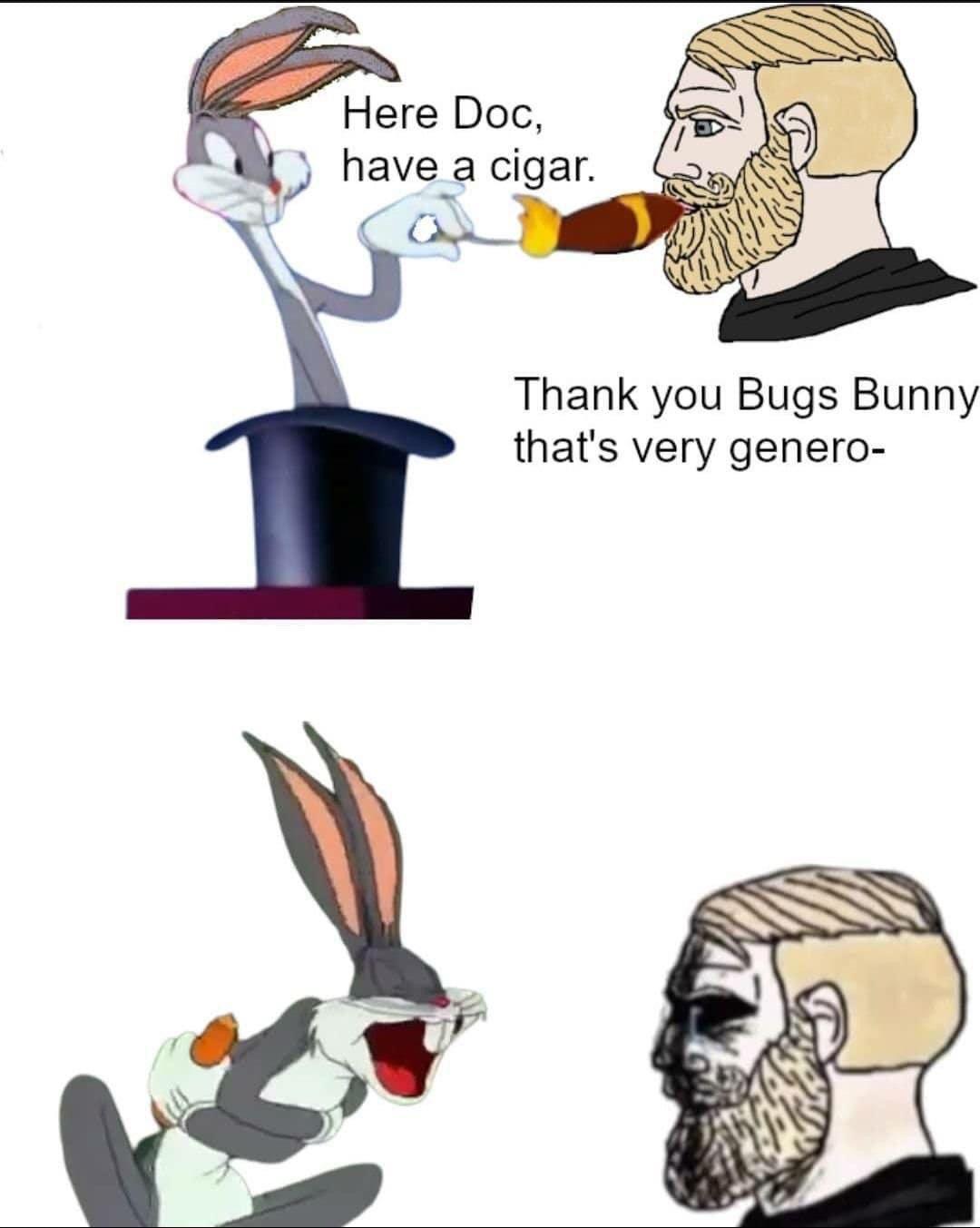 Rabbit is back on the menu, boys