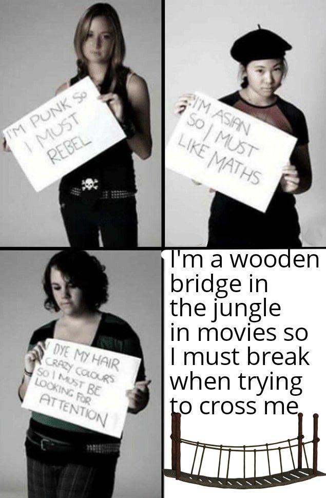 Oh no a cliché