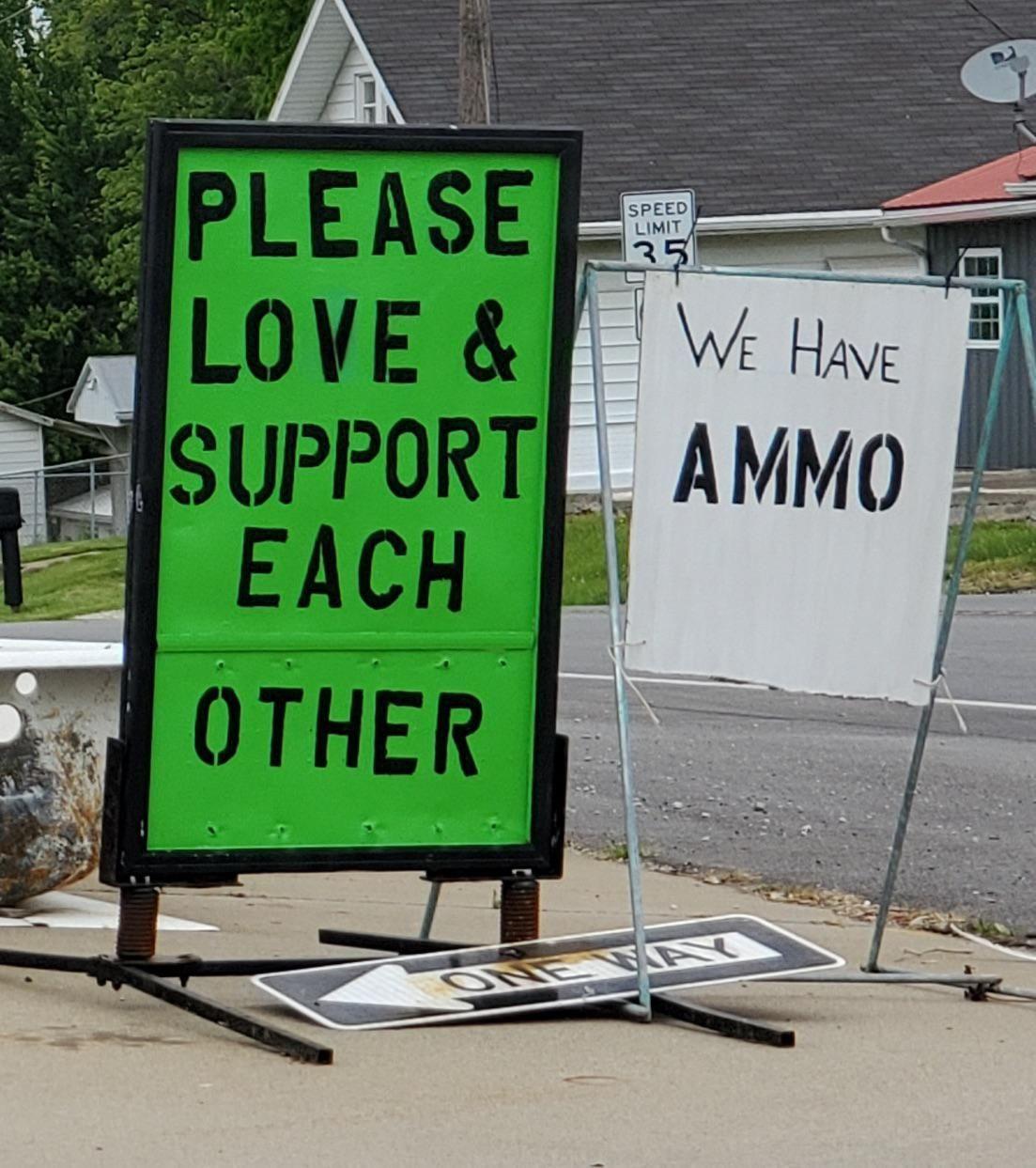 Seen in rural Indiana yesterday…
