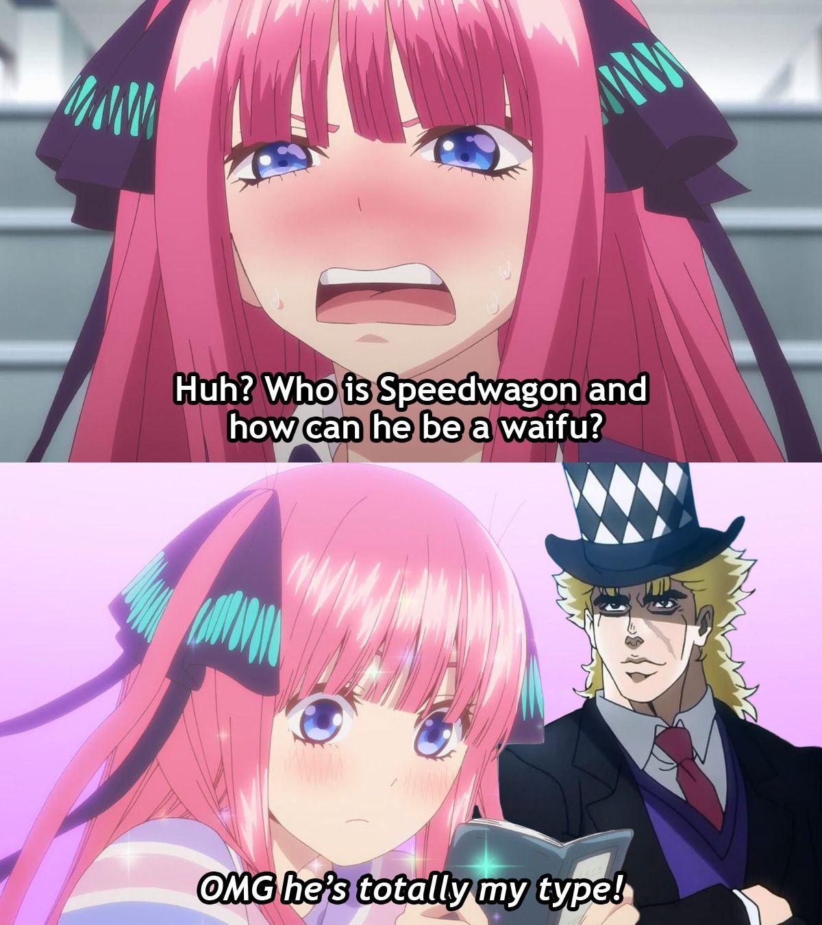 Daily Speedwagon Meme #1 / 7 : Nino loves a badass blonde