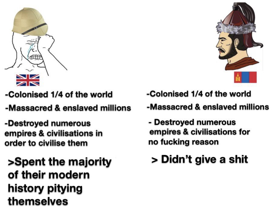 It's odd that not much people gave a shit about the Mongols